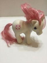 Vtg My Little Pony Sundance White Pony Pink Hair Heart Marks 1983 Hong Kong - $7.69