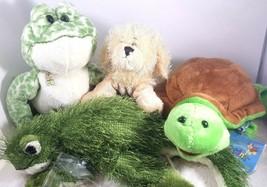 Ganz Webkinz Lil Kinz Lot NO CODE 4 Signature Plush Stuffed Animal Toys  - $11.87