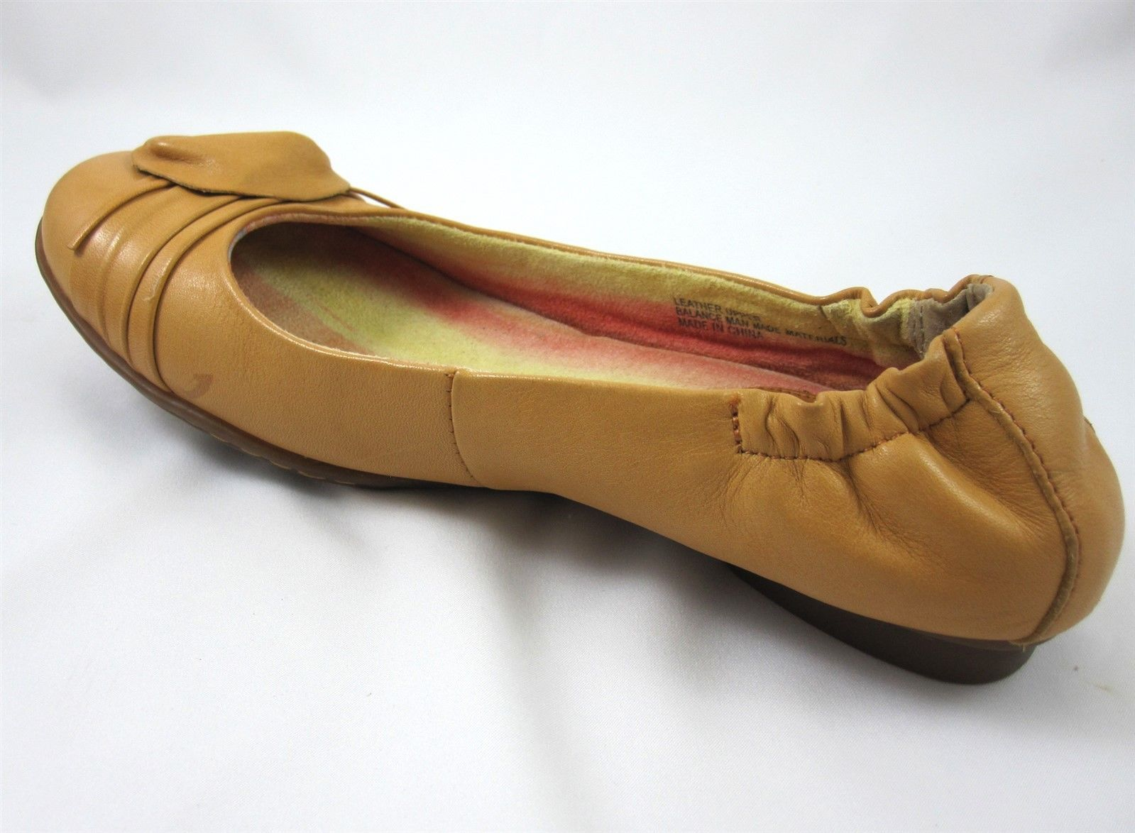 Born Shoes Size 6.5 Daffodil Women's Loafers Ballet Flats Tan Beige Leather