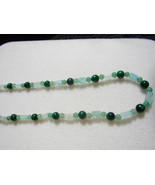 C-23  Green Malachite, Green Adventurine Necklace - $15.00