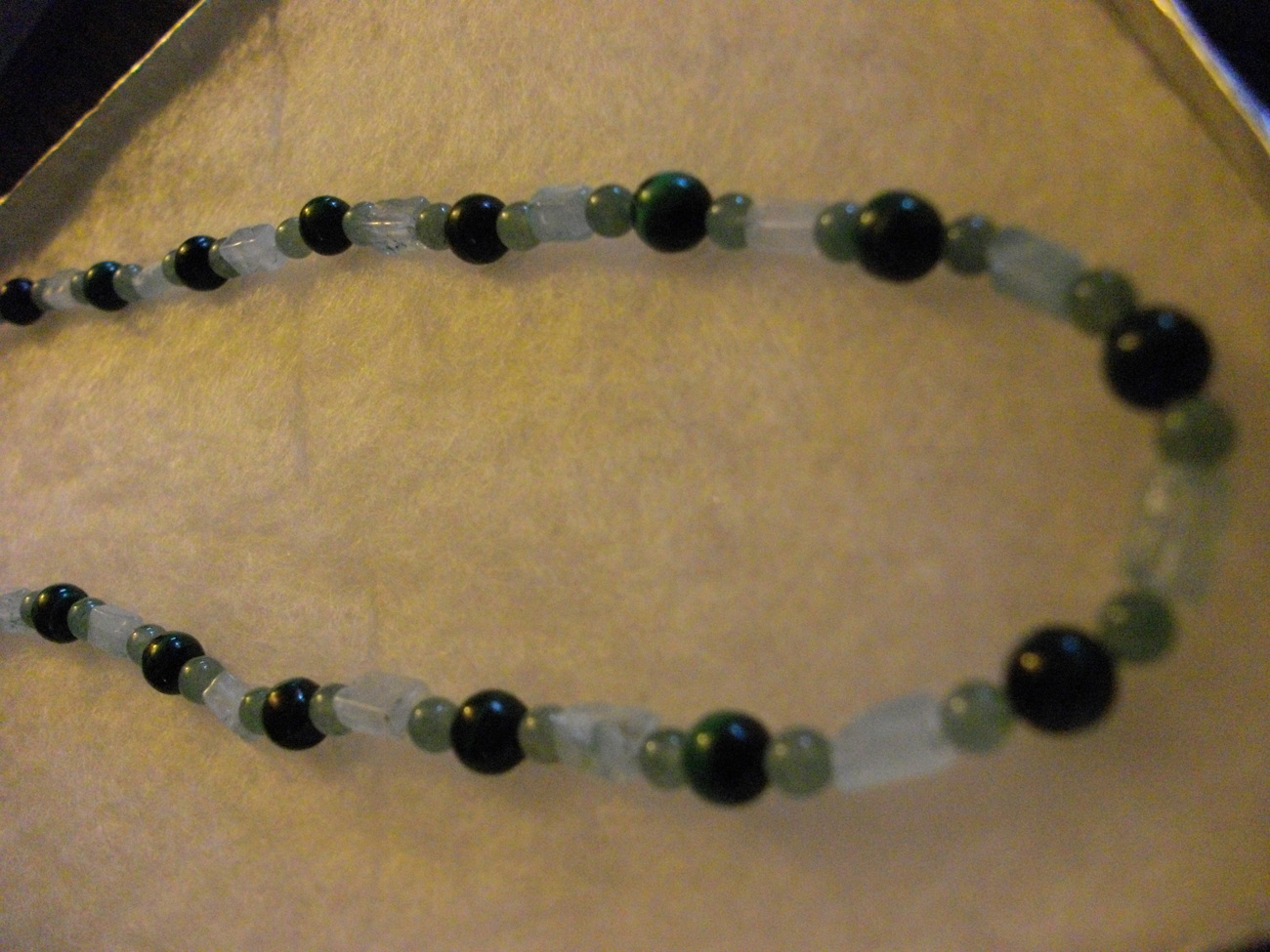 C-23  Green Malachite, Green Adventurine Necklace