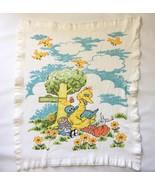 Vintage Sesame Street Thermal Baby Crib Blanket Big Bird 35 x 40 Vintage... - $116.05