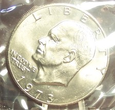 1973-D Eisenhower Dollar BU In the Cello SCARCE DATE #0616 - $11.19