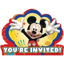 Disney Mickey Mouse Fun and Friends Die Cut Invitations 8pcs Party Supplies - $3.95