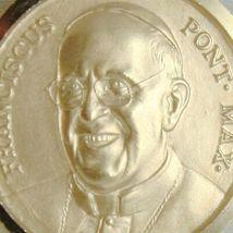 Anhänger Medaille Gelbgold 750 18K, Papa Francesco, 17 mm, Made in Italien image 3