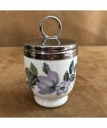 """Royal Worcester June Garland pale purple flower 3"""" high Vintage egg coddler - $24.50"""