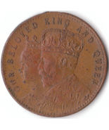 Beautiful Vintage Token Our Beloved King and Queen Scarce Antique Coin 1902 - £24.58 GBP