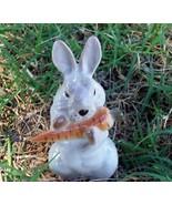 Lomonosov Russian Porcelain Rabbit Eating A Carrot ~CUTE~ - $19.99