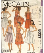 McCall's Pattern #8037 Misses' Sundress and Culotte Dress - $7.00