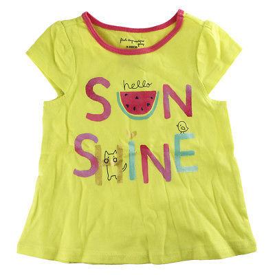 5e040c041 First Impressions Baby Girls ''Hello Sunshine'' Flutter-Sleeve Yellow T- Shirt