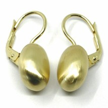 Aquaforte Earrings in Silver 925 with Oval 14 MM Gold Made in Italy image 2