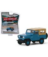1968 Nissan Patrol Mt. Fuji Blue with Brown Top All Terrain Series 9 1/6... - $31.29