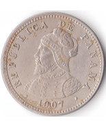 Almost Uncirulated 1907 Panama Medio Centesimo Nice Collectible Antique ... - $176,87 MXN