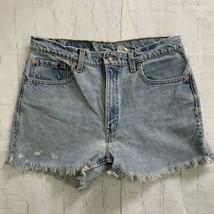 Vintage Levis Cutoff  Shorts Cut Off Frayed Distressed Jean Denim High Waist 34 - $39.57