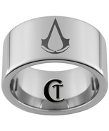 12mm Tungsten Carbide Assassin's Creed Laser De... - $49.00