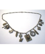 School days necklace with many education and class themed ch - $12.00