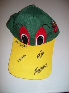 Madison Mallards baseball cap autographes  MADISON WI.
