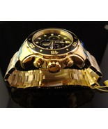 NEW MENS INVICTA 18K  GOLD PLATED SCUBA PRO DIVER  SWISS CHRONO WITH BLACK DIAL - $317.48