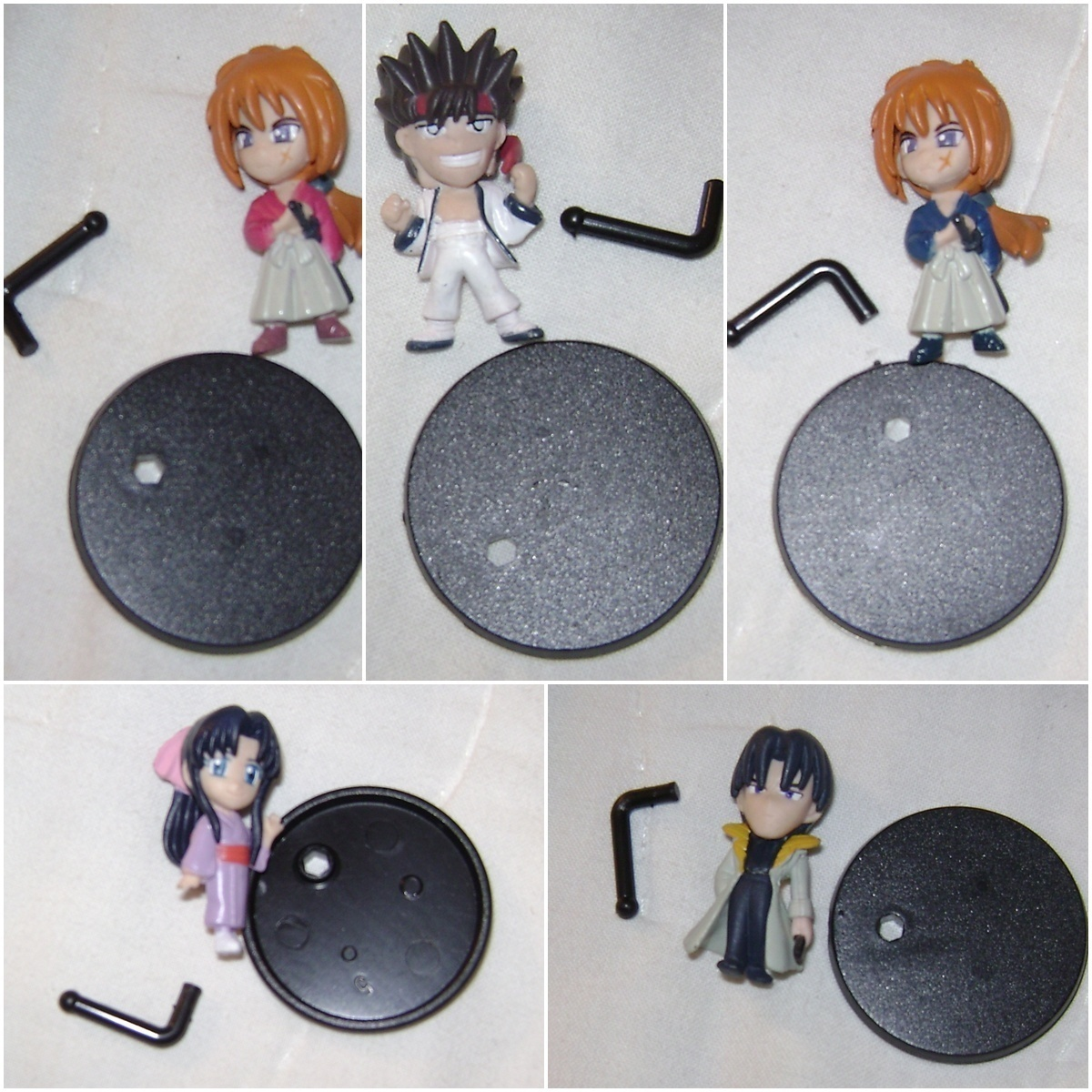 RUROUNI KENSHIN ANIME GACHAPON FIGURE SET OF 5