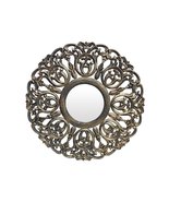 "Decorative & Hand Carved Indian Mirror in Antique Gold. Size : 30""x30"" R... - $217.42"