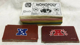 Game Parts Pieces NFL Monopoly Parker Brothers 1998 Money AFC NFC Cards - $6.83