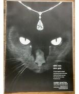 "Original Vintage Harry Winston Black Cat Ad 1948 9 1/2"" x 12 3/4"" - $23.65"