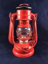"VINTAGE RED WINGED WHEEL LANTERN NO. 350 7 1/4"" MADE IN JAPAN - $14.95"