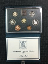 1987 Great Britain 7 Coin Proof Set with Original Box Lot#B844 - $23.38