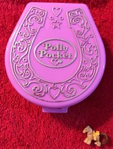 1994 Polly Pocket Vintage Bluebird Pony Ridin' Show  Pink Compact Case w... - $24.74