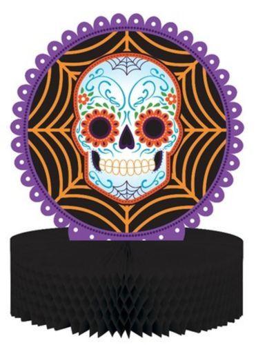 Day of the Dead Halloween Skull Honeycomb Centerpiece
