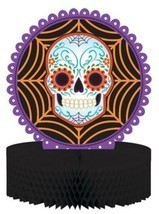 Day of the Dead Halloween Skull Honeycomb Cente... - $7.99