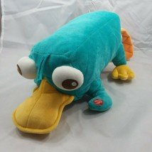 Disney Store Phineas & Ferb PERRY THE PLATYPUS talking plush Stuffed sounds - $21.95