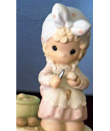 Precious Moments Always Take Time To Pray Girl Peeling Potatoes Figurine... - $24.99