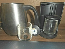 Starbucks Double Espresso Accessory Set 2006 Stainless Steel 5 pc Black Mermaid - $22.76