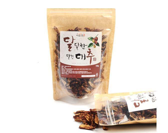 100% Natural Sweet Dried Red Dates Jujube Korean Herb 150g Healthy Foods