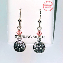 Day in Paradise ! Sterling Swarovski Sand Dollar Earrings - $18.00