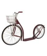 "20"" Adult MAROON SCOOTER Amish Kick Bike w/ Basket Brakes & Racing Wheel... - $312.61"