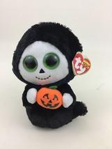 "Beanie Boos Treats 6"" Ghost Black Robe with Pumpkin Plush Stuffed Animal... - $14.21"