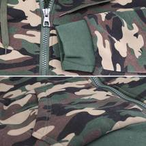 MX USA Men's Army Camo Zip Up Sherpa Hoodie Fleece Hunting Sweater Jacket image 4