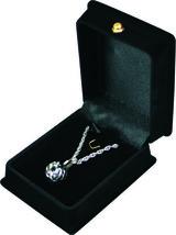 "Silver and Black Sphere Pendant w/20"" chain & black velvet display box - $149.99"