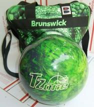 Brunswick Tzone Green Envy Bowling Ball 7.2 lbs & Dyno Lizzard Eye Bag NEW - $89.09