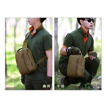 Men Outdoor Shoulder Bag Single Straps Waterproof Internal Frames Nylons... - $31.28
