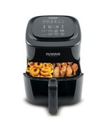 6 Qt Digital Air Fryer Black Non Stick Kitchen Dining Healthy Cook Eat T... - £117.71 GBP