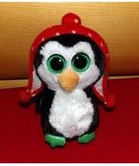 """TY Plush Beanie Boos 6"""" FREEZE Sweet Holiday Accented Penguin - $5.29"""