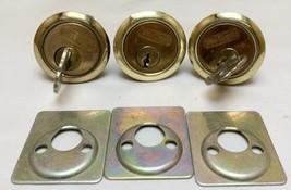 Vintage Antique Lot Of 3 Von Duprin Indianapolis Lock Cylinders Locks Wi... - $24.75