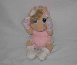 "So Cute 10"" Plush 1985 Hasbro MUPPET BABIES Miss Piggy Doll - $31.78"
