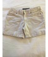 Girls Size 10 Jordache Midi Shorts Ivory Off White Denim Jean Adjust Wai... - $9.00