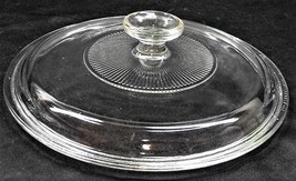 Clear Pyrex Glass Lid G-1-C A - $9.85