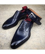 Handmade Men's Oxfords Whole Cut Leather Matching Belt Dress Shoes - $189.99+