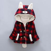 Children winter coat boy girls plaid thick cashmere cotton clothing baby... - $31.28 CAD+